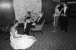 Sloan Ranger types at the annual Rose ball, Grosvenor House Hotel, London. England 1982