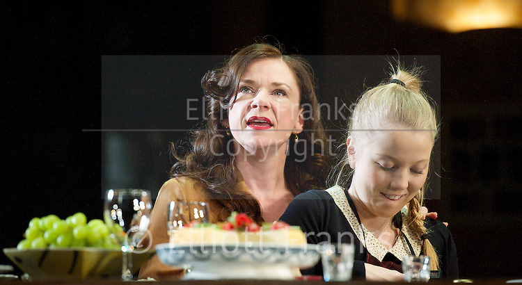 3 Winters<br /> by Tena &Scaron;tivičić<br /> directed by Howard Davies<br /> Lyttelton Theatre, National Theatre, Southbank, London, Great Britain <br /> 2nd December 2014 <br /> Press photocall <br />  <br /> Lucy Black<br /> Charlotte Beaumont<br /> <br />  <br /> <br /> <br />  <br /> Photograph by Elliott Franks <br /> Image licensed to Elliott Franks Photography Services