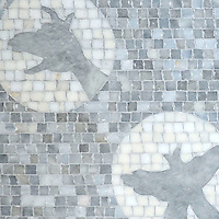 Creatures of the Night, a mosaic shown in honed Allure and Afyon White.