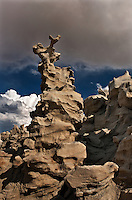 746000039 summer thunderstorm clouds form up over the hoodoos in fantasy canyon blm lands utah united states