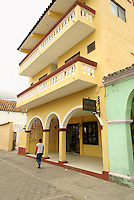 Hotel Reforma in the Spanish colonial town of Tlacotalpan,  Veracruz, Mexico. Tlacotalpan is a UNESCO World Heritage Site.              .