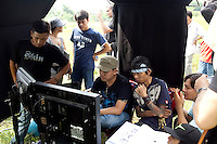 On set of the Vietnamese movie, Bay Rong - Clash, in Vietnam.