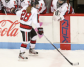 Paige Savage (NU - 28) - The Northeastern University Huskies defeated Boston College Eagles 4-3 to repeat as Beanpot champions on Tuesday, February 12, 2013, at Matthews Arena in Boston, Massachusetts.