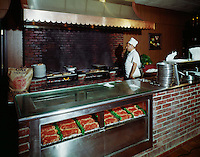 Butcher Boy Restaurant, North Andover Mass. Chef cooking steaks
