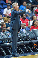 Washington, DC - July 22, 2016: Los Angeles Sparks head coach Brian Agler in action during game against the Washington Mystics at the Verizon Center in Washington, DC. (Photo by Phil Peters/Media Images International)