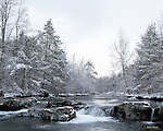 Winter view of the Greenbrier River in the Great Smoky Mountains National Park. Smoky Mountain photos by Gordon and Jan Brugman.