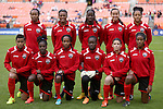 20 October 2014: Trinidad & Tobago starters. Front row  (left to right): Lauren Hutchinson (TRI), Kennya Cordner (TRI), Tenesha Palmer (TRI), Ahkeela Mollon (TRI), Anique Walker (TRI), Brianna Ryce (TRI). Back row (left to right): Dernelle Mascall (TRI), Liana Hinds (TRI), Rhea Belgrave (TRI), Arin King (TRI), Maylee Attin (TRI). The Trinidad & Tobago Women's National Team played the Guatemala Women's National Team at RFK Memorial Stadium in Washington, DC in a 2014 CONCACAF Women's Championship Group A game, which serves as a qualifying tournament for the 2015 FIFA Women's World Cup in Canada. Trinidad and Tobago won the game 2-1 to secure advancement to the semifinals.