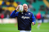 Matt Garvey of Bath Rugby looks on during the pre-match warm-up. Aviva Premiership match, between Northampton Saints and Bath Rugby on September 3, 2016 at Franklin's Gardens in Northampton, England. Photo by: Patrick Khachfe / Onside Images
