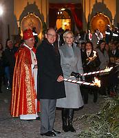Prince Albert II and Princess Charlene of Monaco attend the Sainte Devote celebrations - Monaco