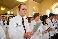 White Coat Ceremony, class of 2015. Jessica Louie, Marisa Liu. Benjamin Brown.