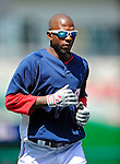 22 April 2010: Washington Nationals' center fielder Nyjer Morgan warms up prior to a game against the Colorado Rockies at Nationals Park in Washington, DC. The Nationals were shut out by the Rockies 2-0 closing out their series with a 2-2 game split. Mandatory Credit: Ed Wolfstein Photo