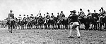Gettysburg PA: View of Troop F of the 5th US Cavalry at Gettysburg. Brady Stewart was in Gettysburg with the Pittsburgh-area Boy's Brigade. They were in Gettysburg for 40th anniversary of the battle of Gettysburg - 1903