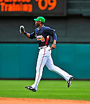 17 March 2009: Atlanta Braves' outfielder Jason Heyward makes the final out of a Spring Training game against the New York Mets at Disney's Wide World of Sports in Orlando, Florida. The Braves defeated the Mets 5-1 in the Saint Patrick's Day Grapefruit League matchup. Mandatory Photo Credit: Ed Wolfstein Photo