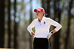 BROWNS SUMMIT, NC - APRIL 01: NC State's Cecily Overbey tees off on the 2nd hole. The second round of the Bryan National Collegiate Women's Golf Tournament was held on April 1, 2017, at the Bryan Park Champions Course in Browns Summit, NC.