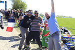 Fans on pave sector 25 Briastre a Solesmes during the 115th edition of the Paris-Roubaix 2017 race running 257km Compiegne to Roubaix, France. 9th April 2017.<br /> Picture: Eoin Clarke | Cyclefile<br /> <br /> <br /> All photos usage must carry mandatory copyright credit (&copy; Cyclefile | Eoin Clarke)