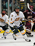"19 January 2007: University of Vermont forward Brayden Irwin from Toronto, ON, in action against Boston College at Gutterson Fieldhouse in Burlington, Vermont. The UVM Catamounts defeated the BC Eagles 3-2 before a record setting 50th consecutive sellout at ""the Gut""...Mandatory Photo Credit: Ed Wolfstein Photo."
