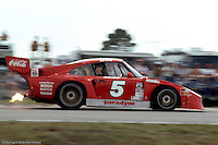 Bob Akin's Porsche 935 brakes for the Sebring hairpin in 1982.