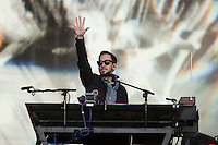 Moscow, Russia, 23//06/2011..Mike Shinoda of Linkin Park performing by Red Square to mark the world premiere in Moscow of the new Michael Bay movie Transformers: Dark Of The Moon.