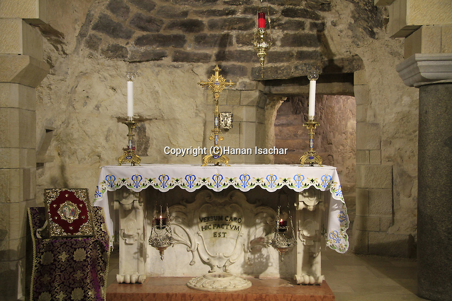Israel, the Grotto of the Annunciation at the Church of the Annunciation in Nazareth