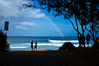North Shore, Haleiwa, Oahu, Hawaii. .The northern hemisphere winter months on the North Shore signal a concentration of surfing activity with some of the best surfers in the wolrd taking advantage of swells originating in the stormy Northern Pacific. Notable North Shore spots include Waimea Bay, Off The Wall, Backdoor, Log Cabins, Rockpiles and Sunset Beach... Ehukai Beach is more  commonly known as Pipeline and is the most notable surfing spot on the North Shore. It is considered a prime spot for competitions due to its close proximity to the beach, giving spectators, judges, and photographers a great view...The North Shore is considered to be one the surfing world's must see locations and every December hosts three competitions, which make up the Triple Crown of Surfing. The three men's competitions are the Reef Hawaiian Pro at Haleiwa, the O'Neill World Cup of Surfing at Sunset Beach, and the Billabong Pipeline Masters. The three women's competitions are the Reef Hawaiian Pro at Haleiwa, the Gidget Pro at Sunset Beach, and the Billabong Pro on the neighboring island of Maui...Photo: Joliphotos.com