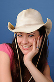 Western Woman with Hat