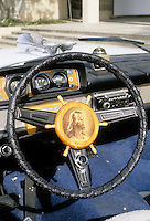Cars: Philip Garner's Nautical Buick. Steering wheel.