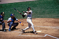 SAN FRANCISCO, CA - Barry Bonds of the San Francisco Giants bats during a game against the Chicago Cubs at AT&T Park in San Francisco, California in 2000. Photo by Brad Mangin