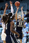 22 November 2016: Charleston Southern's Alyssa Mann (23). The University of North Carolina Tar Heels hosted the Charleston Southern University Buccaneers at Carmichael Arena in Chapel Hill, North Carolina in a 2016-17 NCAA Women's Basketball game. UNC won the game 93-77.