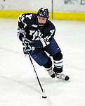 30 November 2009: Yale University Bulldogs' forward Broc Little, a Junior from Rindge, NH, in action against the University of Vermont Catamounts at Gutterson Fieldhouse in Burlington, Vermont. The Bulldogs fell to the Catamounts 1-0 in a close rematch of last season's first round of the NCAA post-season playoff Tournament. Mandatory Credit: Ed Wolfstein Photo