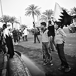 Protesters are seen occupying Pearl Sq, also known as Lulu Sq, on 22 Feb 2011, as they continue their call for political change. (John D McHugh)