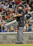 18 May 2012: MLB Umpire .Sam Holbrook stands at home plate during a game between the Baltimore Orioles and the Washington Nationals at Nationals Park in Washington, DC. The Orioles defeated the Nationals 2-1 in the first game of their 3-game series. Mandatory Credit: Ed Wolfstein Photo