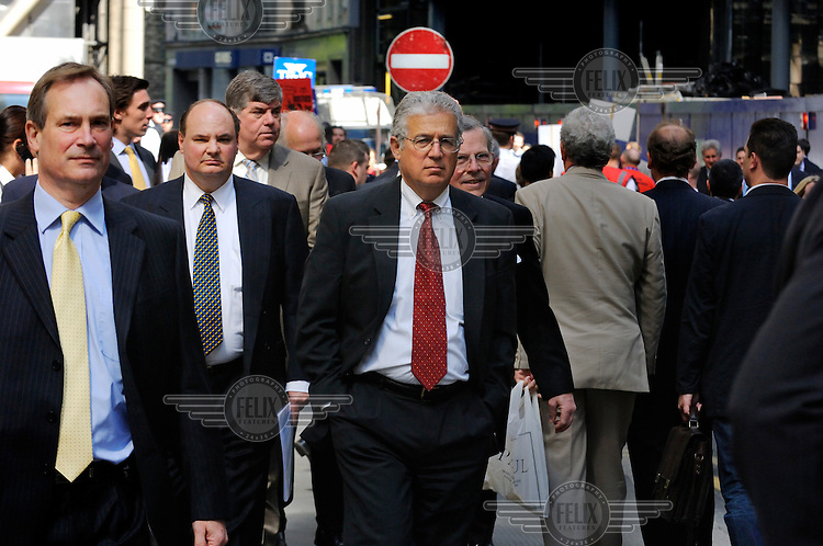 Businessmen in the City of London.