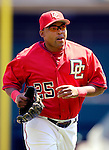 21 May 2006: Marlon Byrd, outfielder for the Washington Nationals, trots back to the dugout during a game against the Baltimore Orioles at RFK Stadium in Washington, DC. The Nationals defeated the Orioles 3-1 to take 2 of 3 games in their first inter-league series...Mandatory Photo Credit: Ed Wolfstein Photo..