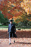 Benjamin Franklin walks in autumn leaves Colonial Williamsburg Virginia, Fine Art Photography by Ron Bennett, Fine Art, Fine Art photography, Art Photography, Copyright RonBennettPhotography.com ©