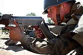 The last draft. Young Polish soldiers exercising with AK47 Kalashnikov rifle at the range. <br /> Rembertow, Poland, May 2008(Photo by Piotr Malecki / Napo Images)<br /> <br /> Ostatni pobor.Zajecia na poligonie. embertow.5/2008<br /> Fot: Piotr Malecki / Napo Images