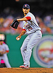 28 August 2010: St. Louis Cardinals pitcher Kyle Lohse in action against the Washington Nationals at Nationals Park in Washington, DC. The Nationals defeated the Cards 14-5 to take the third game of their 4-game series. Mandatory Credit: Ed Wolfstein Photo