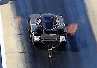 Jun 17, 2016; Bristol, TN, USA; NHRA funny car driver Jim Campbell during qualifying for the Thunder Valley Nationals at Bristol Dragway. Mandatory Credit: Mark J. Rebilas-USA TODAY Sports