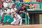 19 March 2015: Atlanta Braves infielder Jace Peterson in Spring Training action against the Miami Marlins at Champion Stadium in the ESPN Wide World of Sports Complex in Kissimmee, Florida. The Braves defeated the Marlins 6-3 in Grapefruit League play. Mandatory Credit: Ed Wolfstein Photo *** RAW (NEF) Image File Available ***
