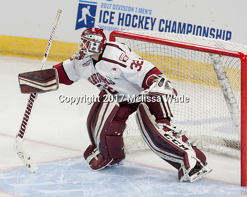 Cameron Gornet (Harvard - 32) - The Harvard University Crimson defeated the Providence College Friars 3-0 in their NCAA East regional semi-final on Friday, March 24, 2017, at Dunkin' Donuts Center in Providence, Rhode Island.