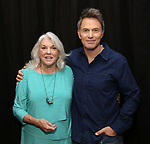 Tyne Daly and Tim Daly attend the Photo Call for The Dorset Theatre Festival World Premiere of Theresa Rebeck's 'Downstairs' at Actors Connection on May 10, 2017 in New York City.