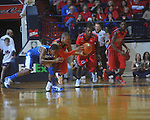 Ole Miss guard Dundrecous Nelson (5) gets a loose ball from Kentucky's Brandon Knight (12) at the C.M. &quot;Tad&quot; Smith Coliseum in Oxford, Miss. on Tuesday, February 1, 2011. Ole Miss won 71-69.