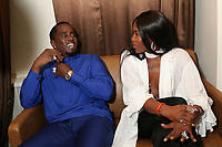 NEW YORK, NY - April 27: Sean 'Diddy' Combs and Naomi Campbell backstage at the 2017 Tribeca Film Festival Screening of Can't Stop, Won't Stop: The Bad Boy Story at The Beacon Theater in New York City on  April 27, 2017. Credit: Walik Goshorn /MediaPunch