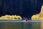 An autumn day spent kayaking the Blackfoot River in western Montana