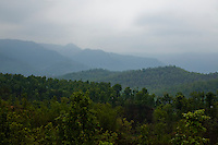 General overviews of rolling hills in Surkhet district, Western Nepal, on 30th June 2012. In Surkhet, StC partners with Safer Society, a local NGO which advocates for child rights and against child marriage.  Photo by Suzanne Lee for Save The Children UK