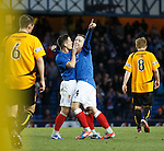 Ian Black congratulates Barrie McKay on his stunning goal for no 6 to Rangers