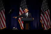 United States President Barack Obama makes remarks at a Democratic National Committee (DNC) fundraiser in midtown, Manhattan, New York on Tuesday, September 20, 2011. .Credit: Allan Tannenbaum / Pool via CNP
