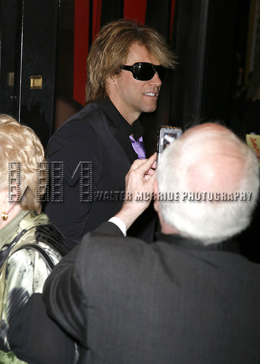 Jon Bon Jovi attending the Opening Night of Warner Bros. Theatre Ventures' Inaugural production of LESTAT at the Palace Theatre with an after party at Time Warner Center in New York City. April 25, 2006.© Walter McBride/WM Photography