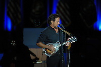 Eddie Vedder performs before President Barack Obama's farewell address at McCormick Place in Chicago, Illinois on January 10, 2017.