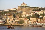 Vila Nova de Gaia with the Douro River including the Serra do Pilar Monastery and Dom Luis I Bridge, Porto - Oporto, Douro Litoral, Portugal