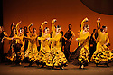 London, UK. 26.02.2015. Ballet Nacional de Espana present SUITE SEVILLA, at Sadler's Wells, as part of the Flamenco Festival London 2015. This piece is entitled FERIA, which is the opening sequence, choreographed by Artistic Director Antonio Najarro. Photograph © Jane Hobson.